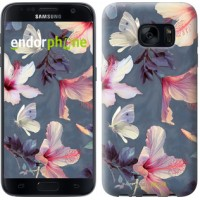 Чехол для Samsung Galaxy S7 G930F Нарисованные цветы 2714m-106
