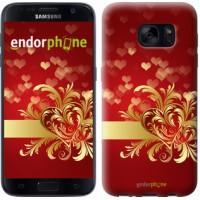 Чехол для Samsung Galaxy S7 G930F Ажурные сердца 734m-106