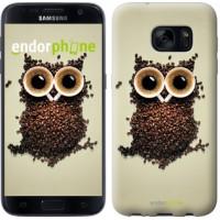Чехол для Samsung Galaxy S7 G930F Сова из кофе 777m-106