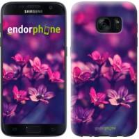 Чехол для Samsung Galaxy S7 G930F Пурпурные цветы 2719m-106