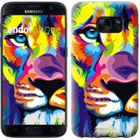 Чехол для Samsung Galaxy S7 G930F Разноцветный лев 2713m-106