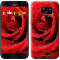 Чехол для Samsung Galaxy S7 G930F Красная роза 529m-106