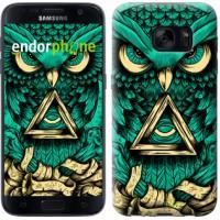 Чехол для Samsung Galaxy S7 G930F Сова Арт-тату 3971m-106