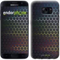 Чехол для Samsung Galaxy S7 G930F Переливающиеся соты 498m-106
