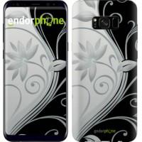 Чехол для Samsung Galaxy S8 Plus Цветы на чёрно-белом фоне 840c-817