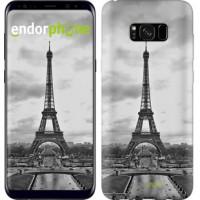 Чехол для Samsung Galaxy S8 Plus Чёрно-белая Эйфелева башня 842c-817