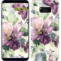 Чехол для Samsung Galaxy S8 Plus Цветы акварелью 2237c-817
