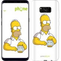 Чехол для Samsung Galaxy S8 Plus Задумчивый Гомер. Симпсоны 1234c-817