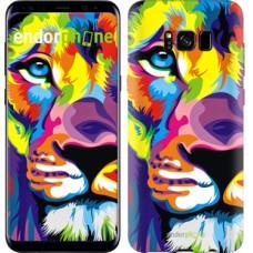 Чехол для Samsung Galaxy S8 Разноцветный лев 2713c-829