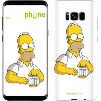 Чехол для Samsung Galaxy S8 Задумчивый Гомер. Симпсоны 1234c-829
