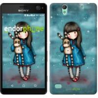 Чехол для Sony Xperia C4 Девочка с зайчиком 915m-295