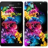 Чехол для Sony Xperia C4 Абстрактные цветы 511m-295