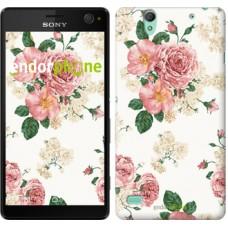 Чехол для Sony Xperia C4 цветочные обои v1 2293m-295