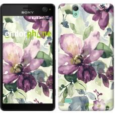 Чехол для Sony Xperia C4 Цветы акварелью 2237m-295