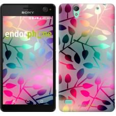 Чехол для Sony Xperia C4 Листья 2235m-295