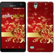 Чехол для Sony Xperia C4 Ажурные сердца 734m-295