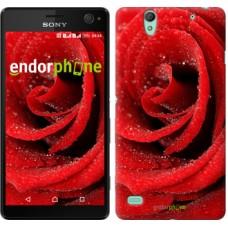 Чехол для Sony Xperia C4 Красная роза 529m-295