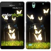Чехол для Sony Xperia C4 Светящиеся бабочки 2983m-295