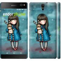 Чехол для Sony Xperia C5 Ultra Dual E5533 Девочка с зайчиком 915m-506