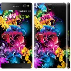 Чехол для Sony Xperia C5 Ultra Dual E5533 Абстрактные цветы 511m-506