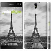 Чехол для Sony Xperia C5 Ultra Dual E5533 Чёрно-белая Эйфелева башня 842m-506