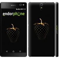 Чехол для Sony Xperia C5 Ultra Dual E5533 Черная клубника 3585m-506