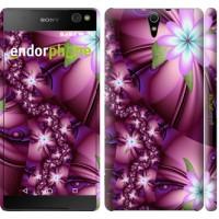 Чехол для Sony Xperia C5 Ultra Dual E5533 Цветочная мозаика 1961m-506