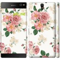 Чехол для Sony Xperia C5 Ultra Dual E5533 цветочные обои v1 2293m-506