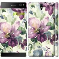 Чехол для Sony Xperia C5 Ultra Dual E5533 Цветы акварелью 2237m-506