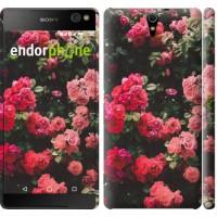 Чехол для Sony Xperia C5 Ultra Dual E5533 Куст с розами 2729m-506