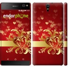 Чехол для Sony Xperia C5 Ultra Dual E5533 Ажурные сердца 734m-506