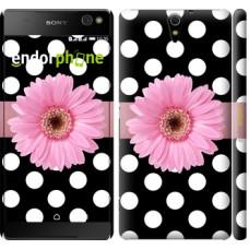 Чехол для Sony Xperia C5 Ultra Dual E5533 Горошек 2 2147m-506