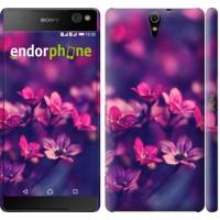 Чехол для Sony Xperia C5 Ultra Dual E5533 Пурпурные цветы 2719m-506