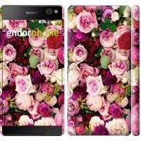 Чехол для Sony Xperia C5 Ultra Dual E5533 Розы и пионы 2875m-506