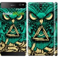 Чехол для Sony Xperia C5 Ultra Dual E5533 Сова Арт-тату 3971m-506
