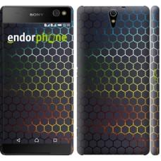 Чехол для Sony Xperia C5 Ultra Dual E5533 Переливающиеся соты 498m-506