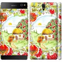 Чехол для Sony Xperia C5 Ultra Dual E5533 Украинская хатка 1598m-506