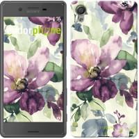 Чехол для Sony Xperia X Цветы акварелью 2237m-446