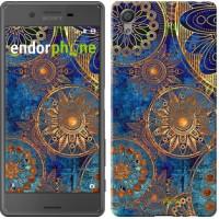 Чехол для Sony Xperia X Золотой узор 678m-446