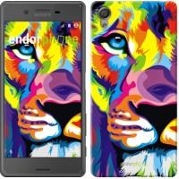 Чехол для Sony Xperia X Разноцветный лев 2713m-446
