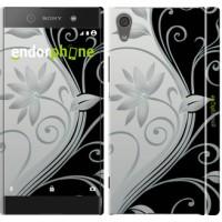 Чехол для Sony Xperia XA1 Цветы на чёрно-белом фоне 840m-964