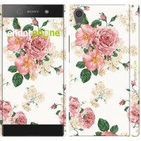 Чехол для Sony Xperia XA1 цветочные обои v1 2293m-964