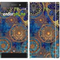 Чехол для Sony Xperia XA1 Золотой узор 678m-964