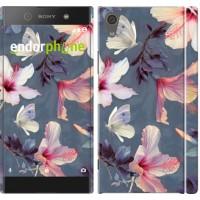 Чехол для Sony Xperia XA1 Нарисованные цветы 2714m-964