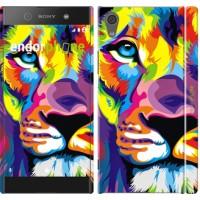 Чехол для Sony Xperia XA1 Разноцветный лев 2713m-964