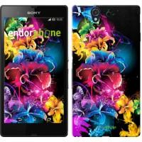 Чехол для Sony Xperia Z C6602 Абстрактные цветы 511m-40