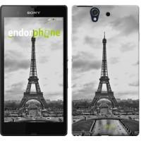 Чехол для Sony Xperia Z C6602 Чёрно-белая Эйфелева башня 842m-40
