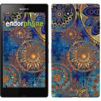 Чехол для Sony Xperia Z C6602 Золотой узор 678m-40