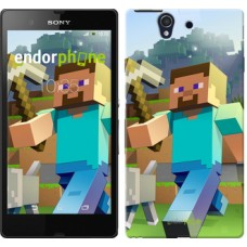 Чехол для Sony Xperia Z C6602 Minecraft 4 2944m-40