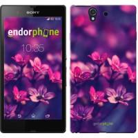 Чехол для Sony Xperia Z C6602 Пурпурные цветы 2719m-40